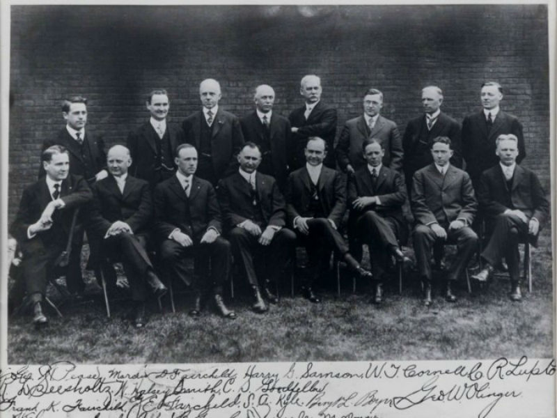 A vintage photo of morticians who were founders of Seleceted Independent Funeral Homes