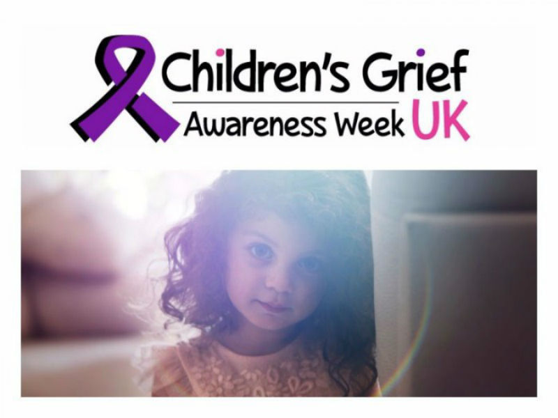 a publicity poster for children's grief awareness week
