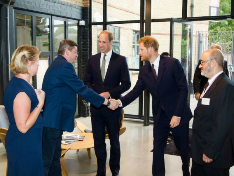 Princes William and Harry visiting the Support 4 Grenfell Community Hub