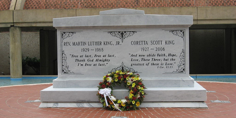 Grave of Martin Luther King Jr