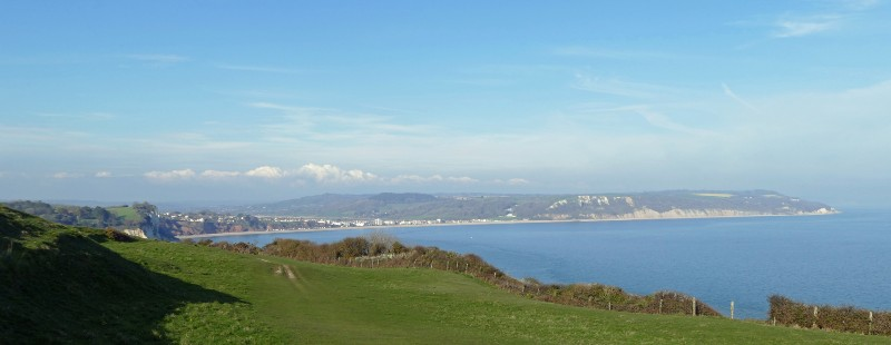 View of Seaton bay in devon