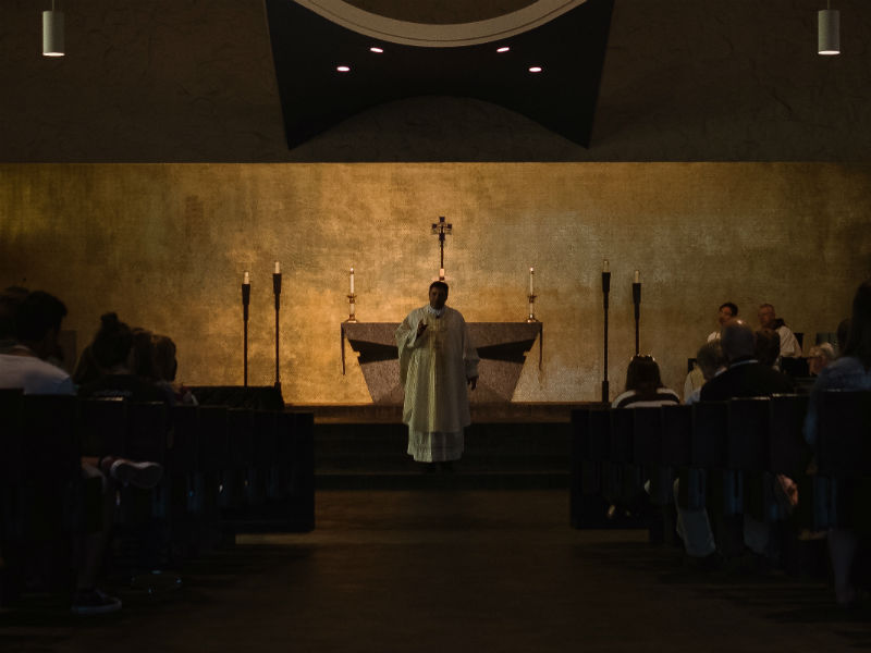 priest in a church