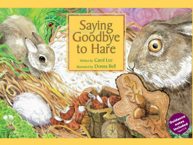 book cover, Saying Goodbye to Hare