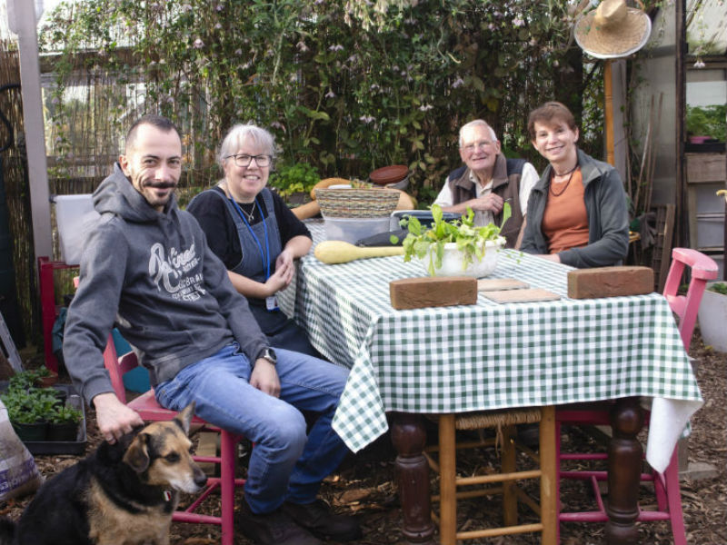 taking a breather at earthworks, a grief therapy gardening project for men in Brighton & Hove