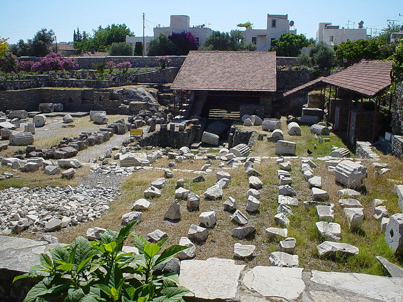 Ruins of the lost mausoleum at Halicarnassus in Tuurkey
