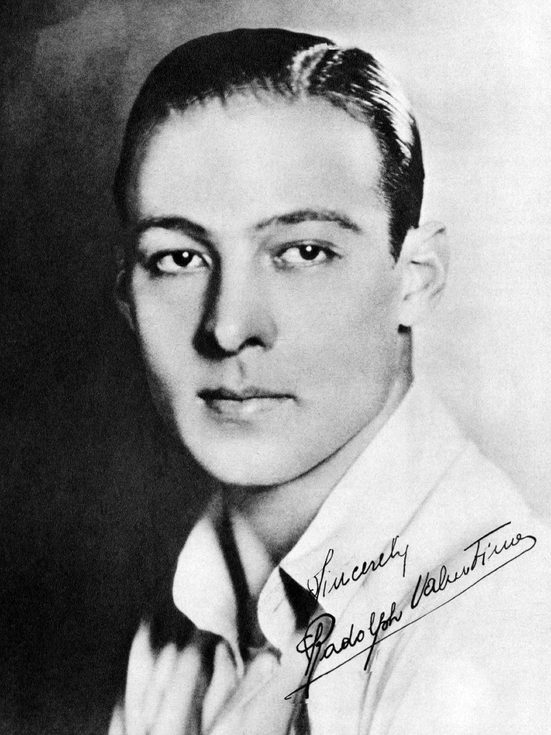Autographed photo of Rudolph Valentino