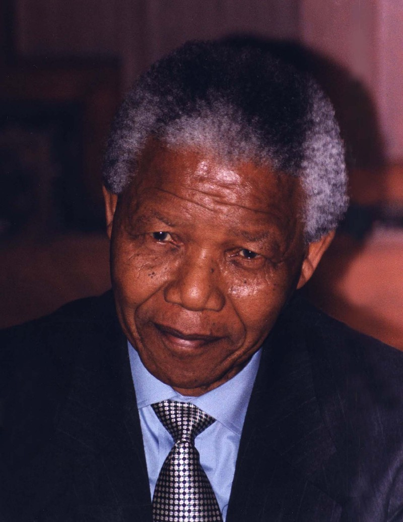 Portrait photo of Nelson Mandela