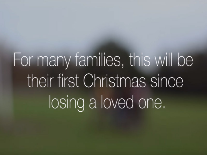 How Many Days Before Christmas.Firstchristmas Hospice Advert Highlights Bereavement Support