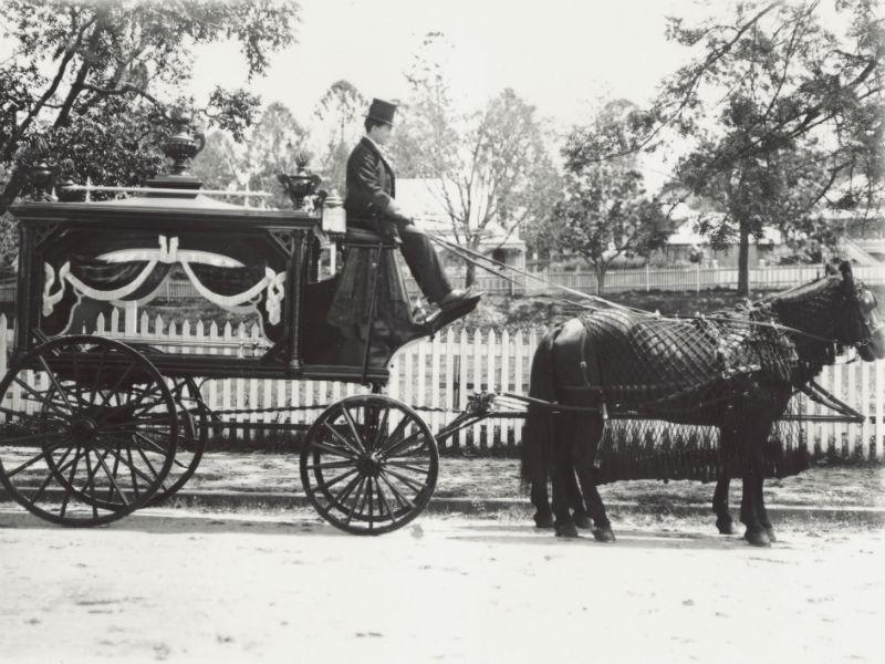 Victorian horse-drawn hearse
