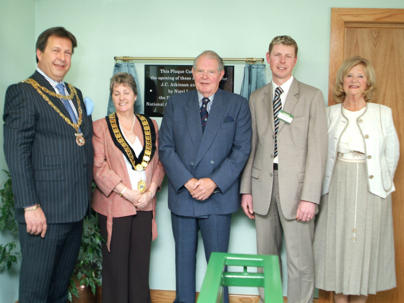 The opening of the new JC Atkinson coffin factory in the 1990s