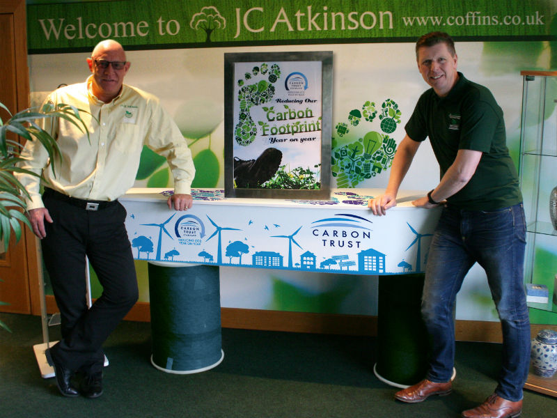 JC Atkinson's team show off their eco-coffins with green credentials