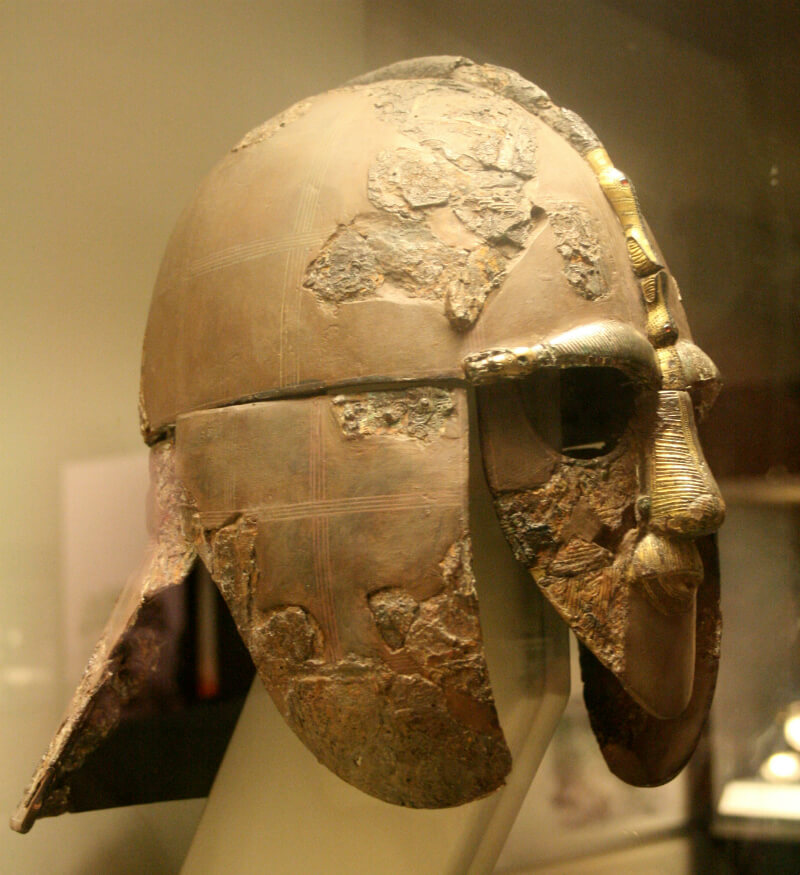 The reconstructed Sutton Hoo helmet