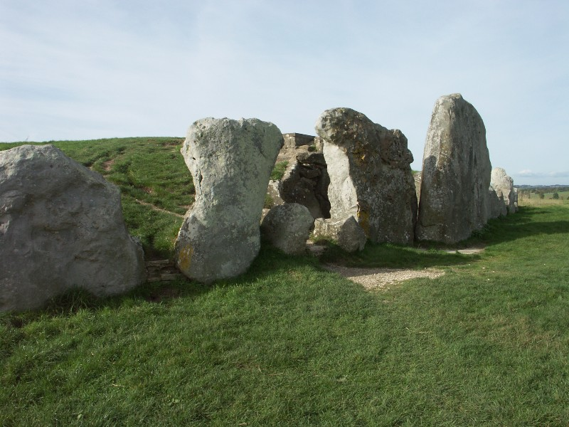 Exterior view of the Long Barrow at West Kennet)