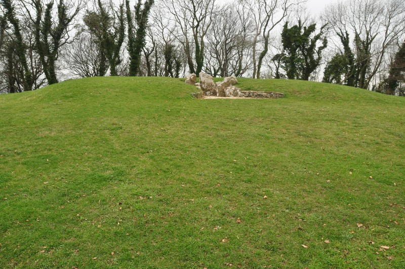 exterior view of the Nympsfield Long Barrow