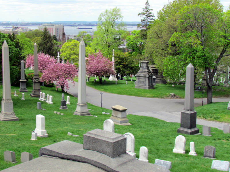 View of Brooklyn from Green-wood cemetery