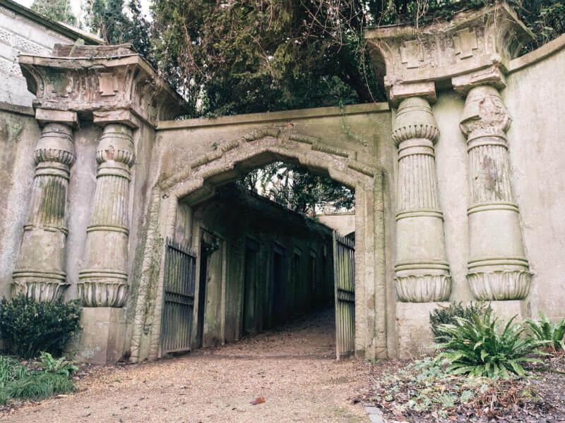 Highgate Cemetery gates