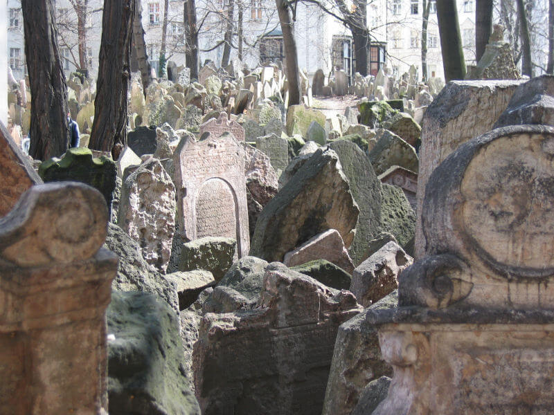 Ancient tombstones in the Old Jewish Cemetery