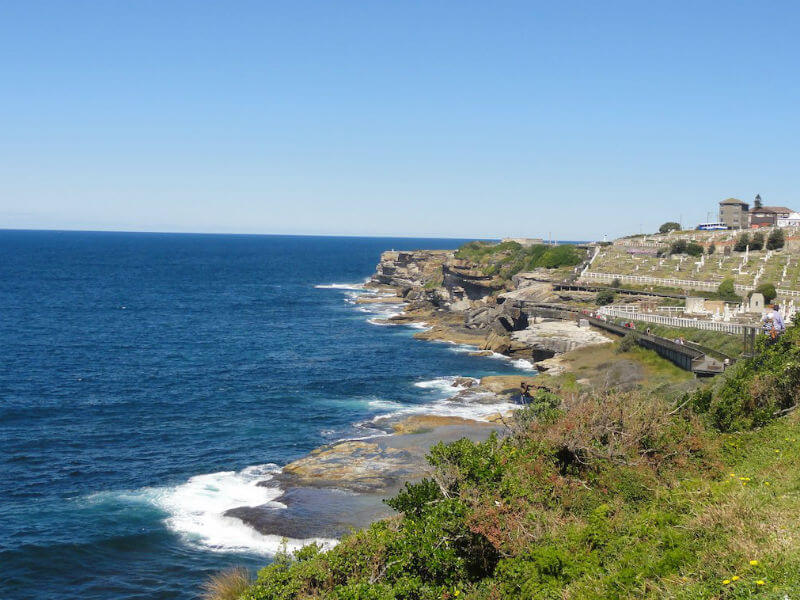 Ocean view from Waverley Cemetery