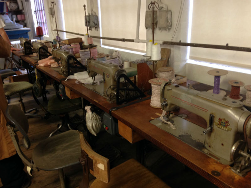 Newman Brothers Coffin Works Museum in Birmingham- shroud sewing room