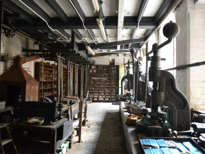 Newman Brothers Coffin Works Museum in Birmingham- stamping workshop