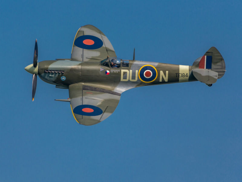 Historic fighter plane scattering ashes