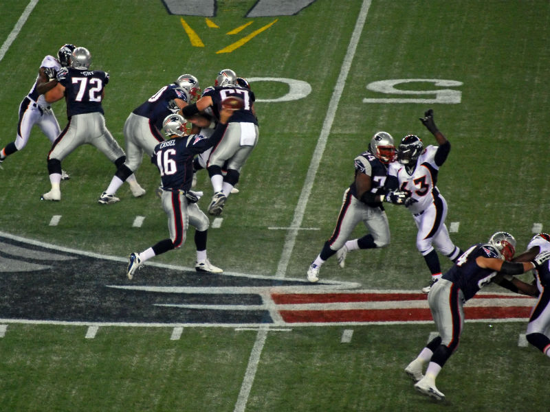 Patriots vs Broncos at  Gillette Stadium