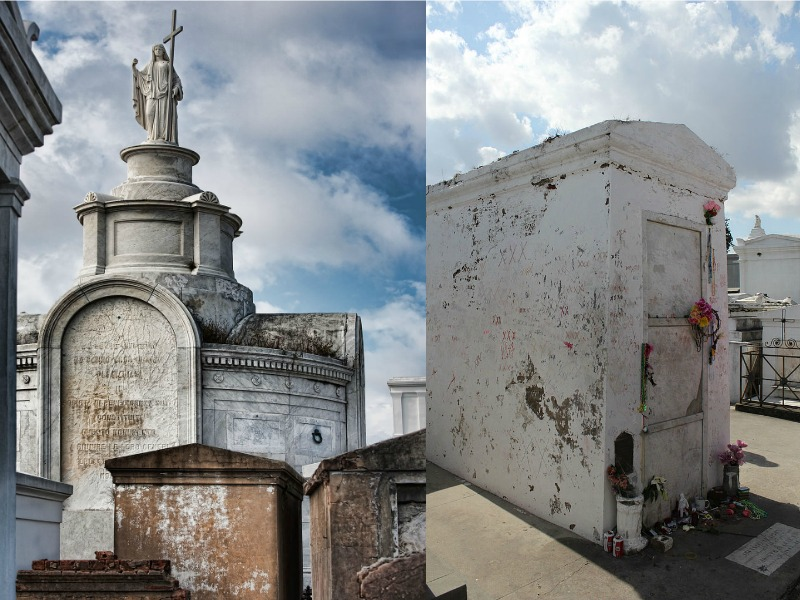 Tombs and mausoleums at St Louis Cemetery Number One