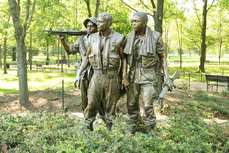 Photo of three soldiers sculpture on a sunny day!