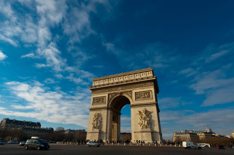 View of Arc de triomphe on a sunny day!