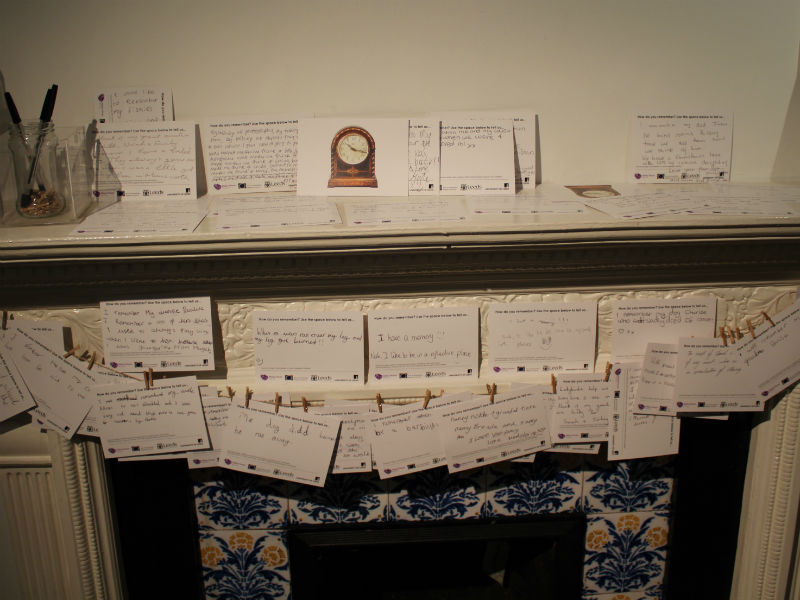 Notes from visitors have been pegged to the museum's Victorian mantlepiece