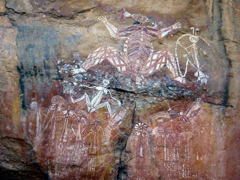 Rock carving of Aboriginal Ancestors