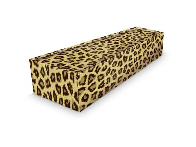 A leopard print coffin