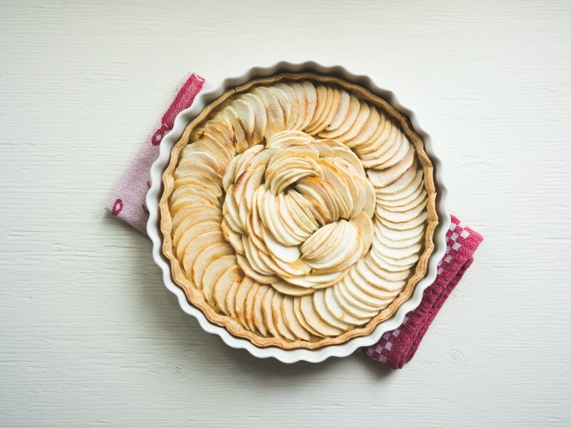 An apple pie ready to serve