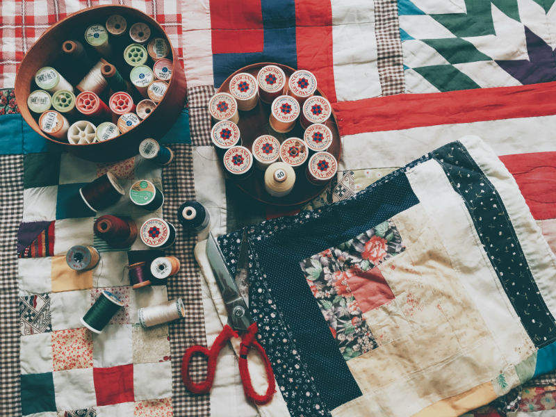 alternative grief therapy- memory quilting