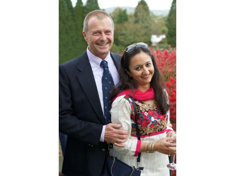 Just Jhoom! founder Shalini Bhalla and husband Jeremy Lucas