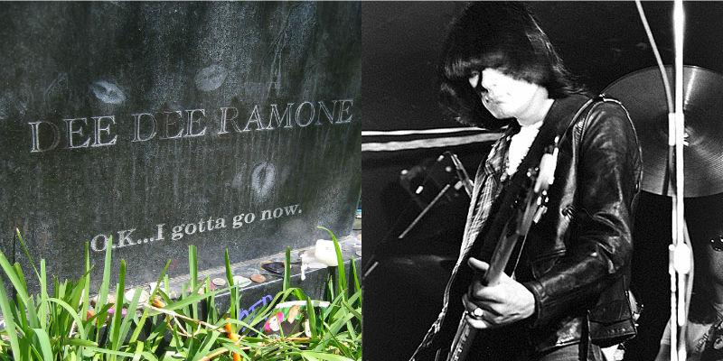 Dee Dee Ramone's gravestone