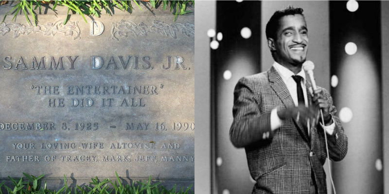 Sammy Davis Jr.'s headstone at Forest Lawn
