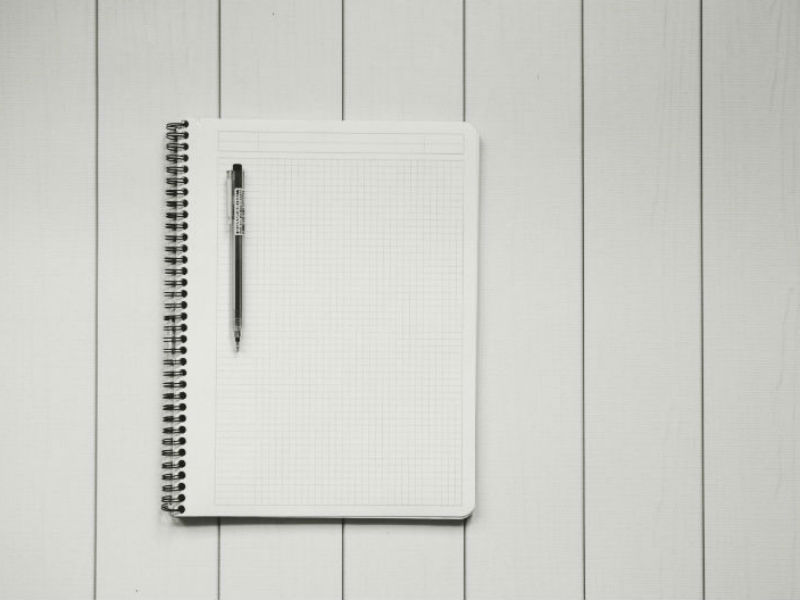 blank paper and pen