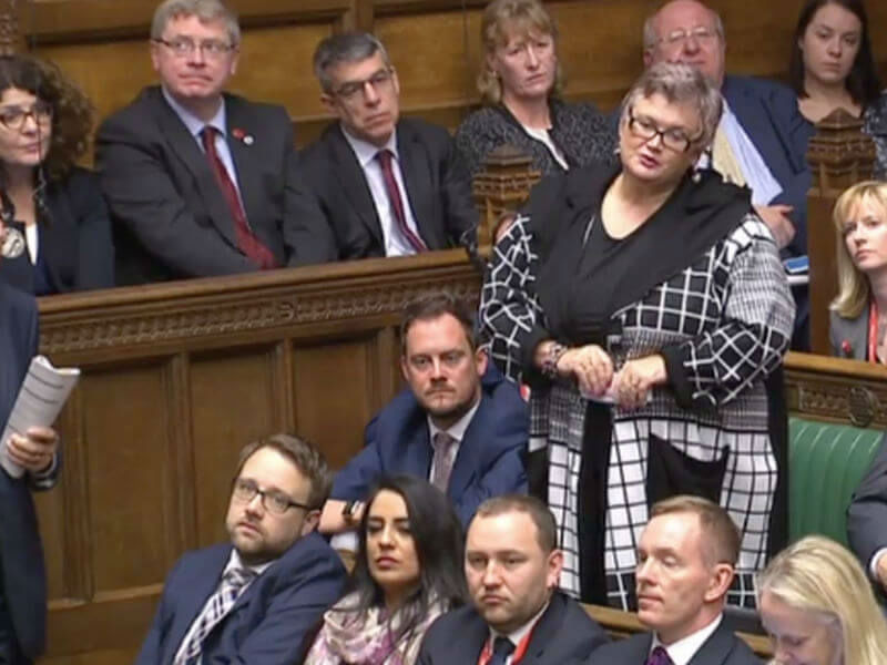 MP Carolyn Harris speaking in the House of Commons