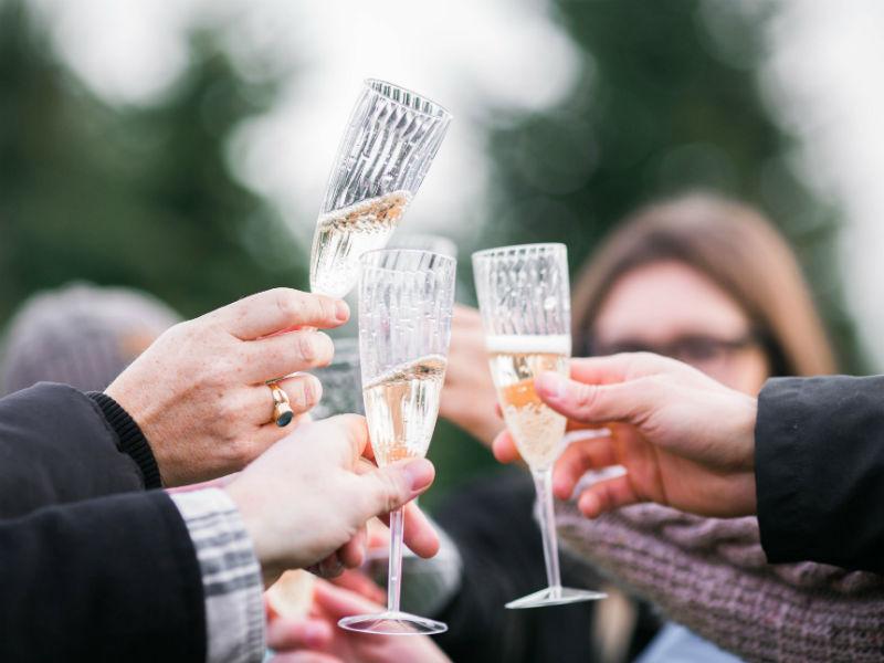 raising a toast to someone