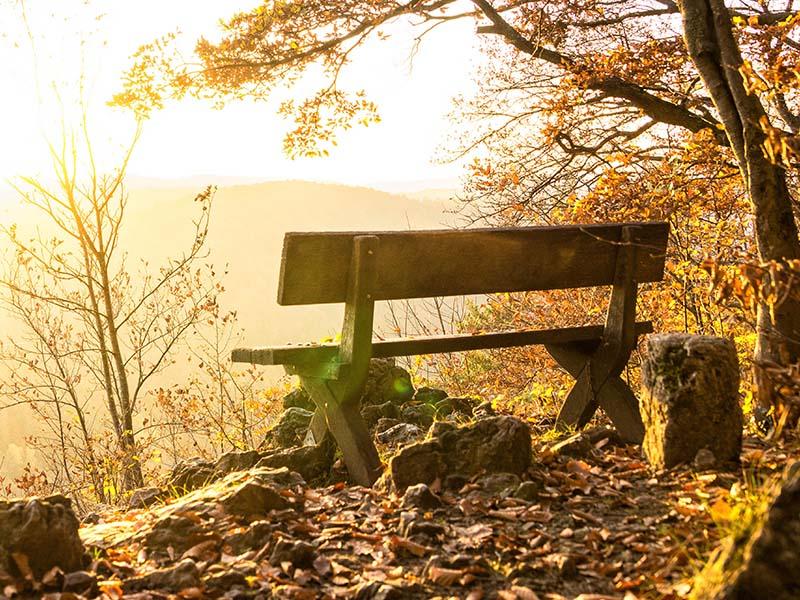 Christmas memorial gifts - memorial bench