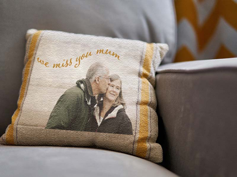 Christmas in Heaven gift ideas -personalised  memorial cushion
