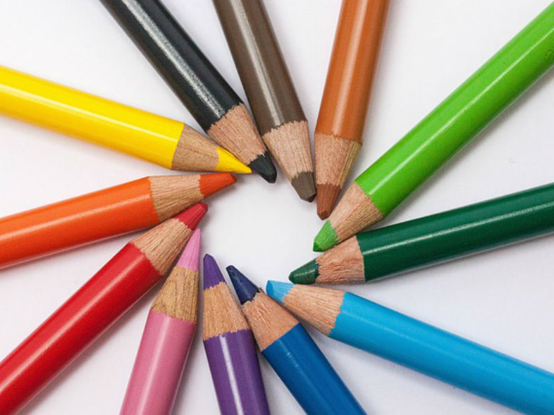 Bright crayons for a bereavement coloring book
