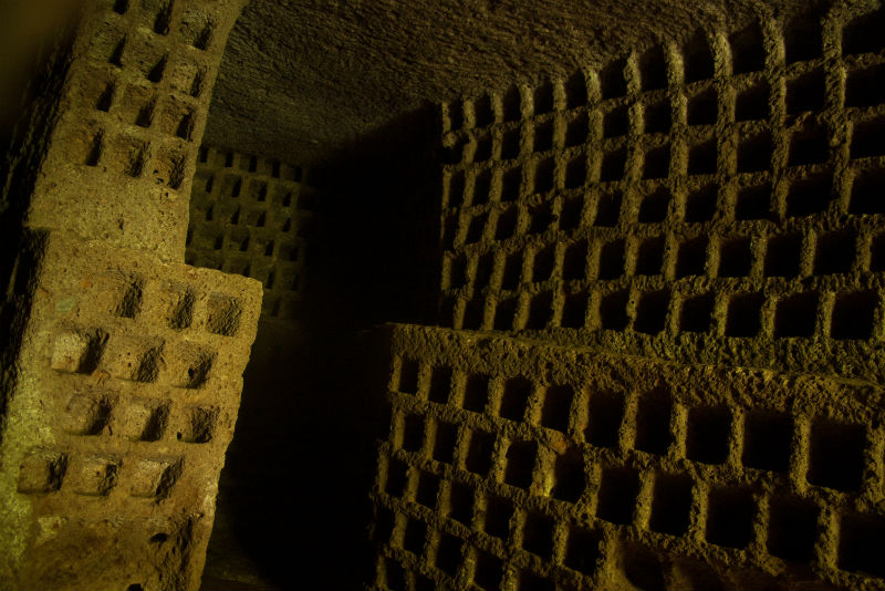 The ancient and atmospheric remains of a Roman columbarium