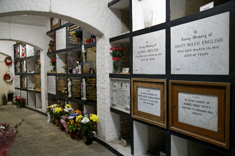 A beautifull organised array of columbarium niches