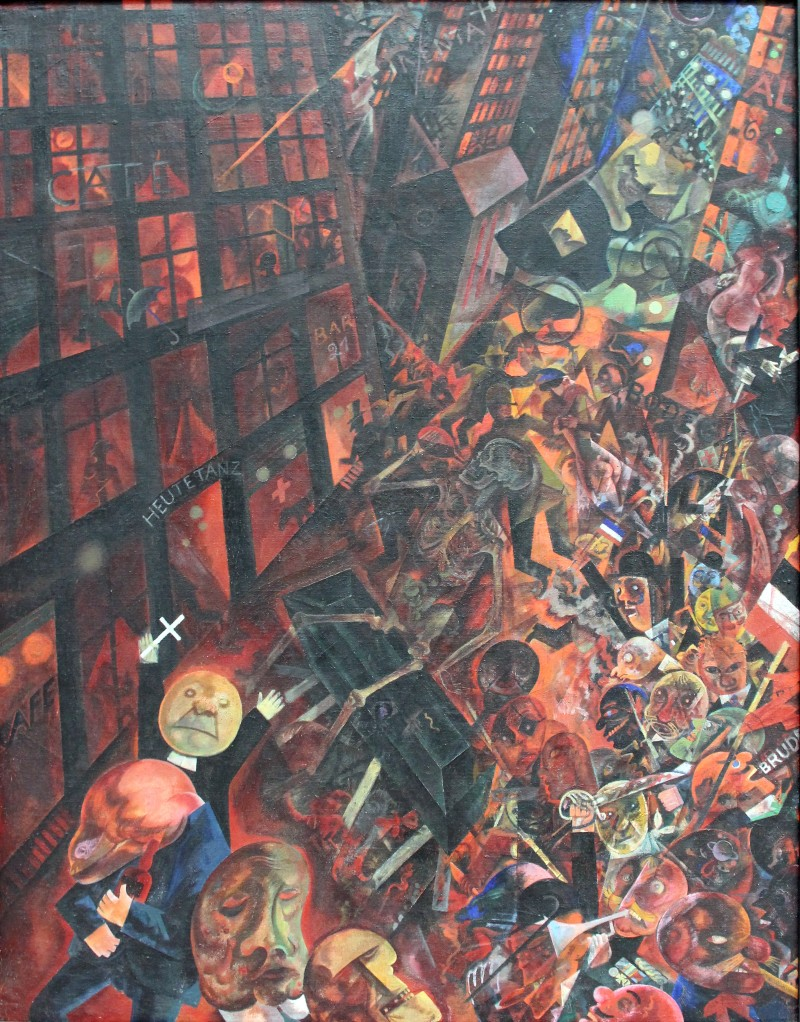 Copy of George Grosz's painting,A Funeral: Tribute to Oskar Panizza