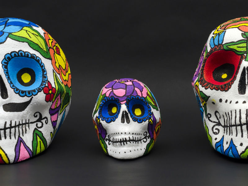 day of the dead events 2018 skulls