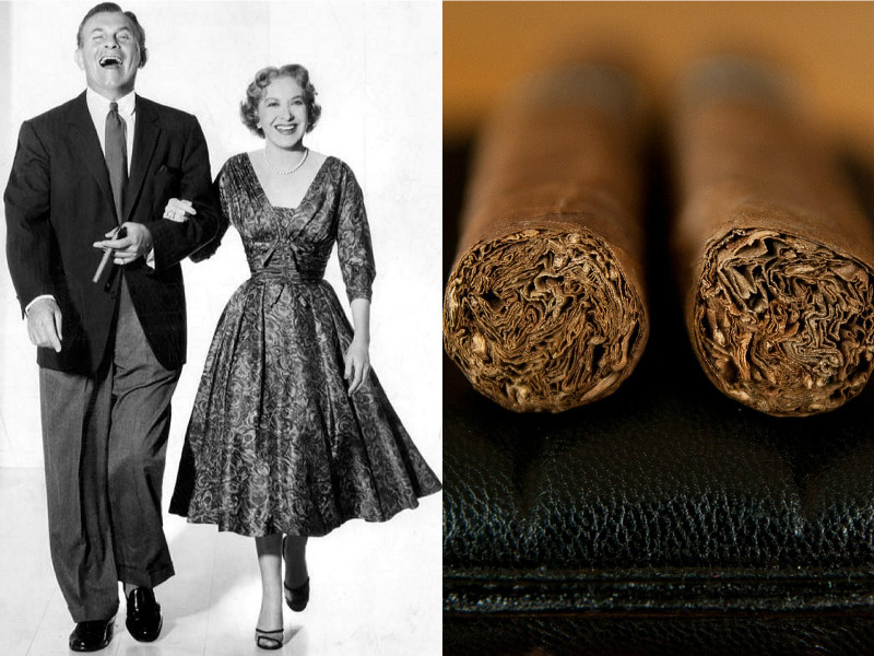 things famous people were buried with - cigars