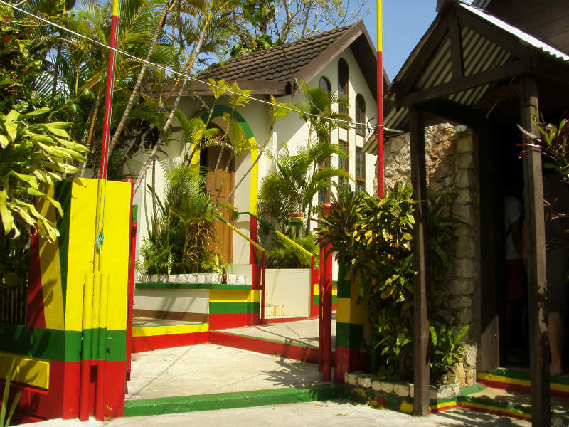 Entrance to Bob Marley's mausoleum