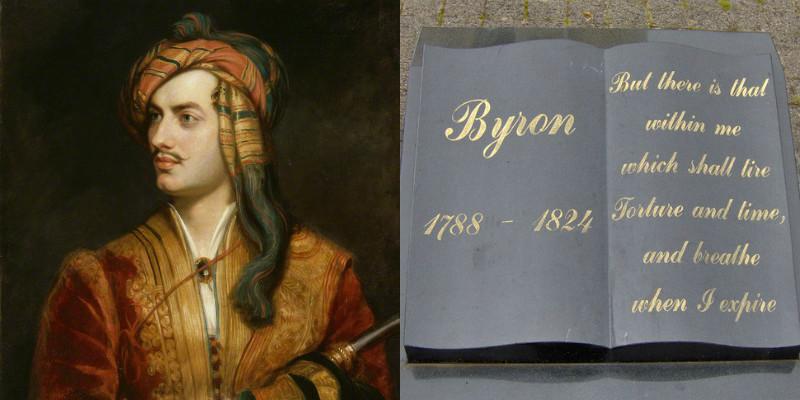 Byron's gravestone